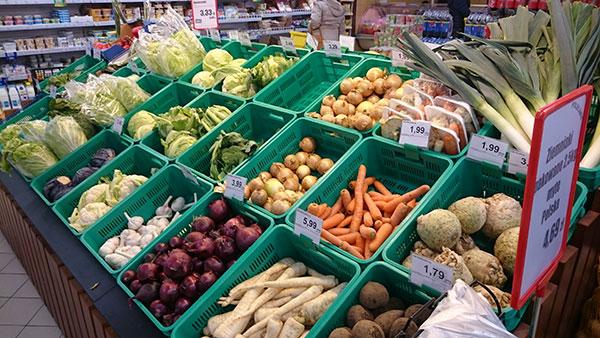 ポーランド野菜売り場