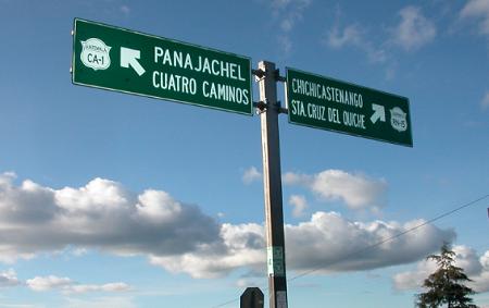 パナハッチェルのアティトラン湖へ向かう途中の道にある標識です