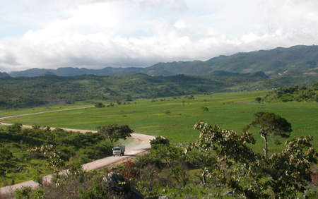 グアテマラの北部にある田舎の風景です