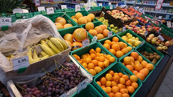 ポーランド果物売り場