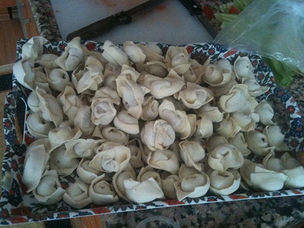 マントゥと呼ばれる水餃子みたいのを手作り