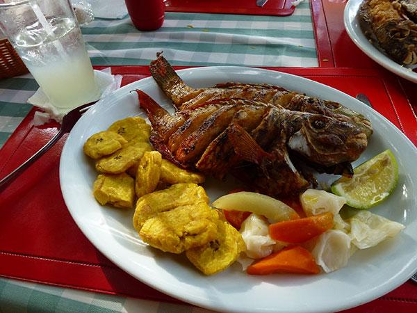ドミニカ共和国_揚げ魚