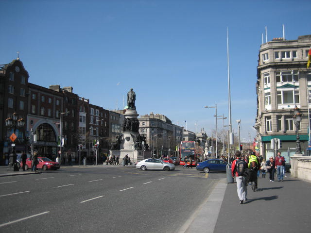街並みO'Connell Street Veiw from O'Connell Bridge